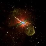 Zwart gat spuwt jet in Centaurus A