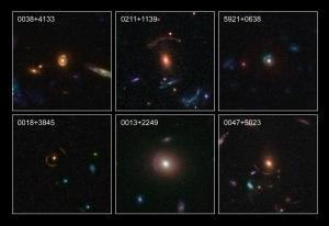Enkele door Hubble waargenomen gravitatielenzen