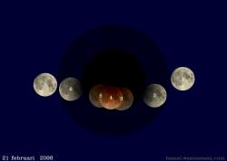De maansverduistering van 21 februari 2008