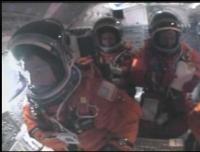 De cockpit tijdens de lancering van de Endeavour