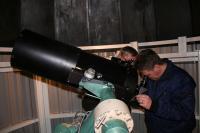Peter Boot neemt een kijkje door de nieuwe C11 van Christiaan Huygens