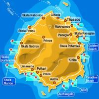 Het eiland Thassos