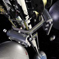 Schets van de ruimtelift