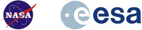 Logo\'s van NASA en ESA