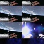 Ammoniatank ISS verbrandt boven Stille Oceaan