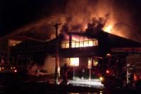 Het warenhuis in brand