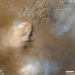 De MRO ziet stofstormen op Mars