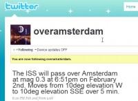 Twitter over Amsterdam