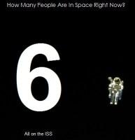 Hoeveel zijn mensen zijn er in de ruimte op dit moment