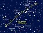 De gunstige verschijning van komeet 103P/Hartley