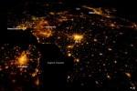West-Europa badend in een zee van licht