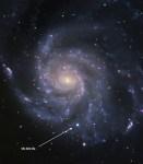 Supernova in M101 geeft meer inzicht in ontstaan type Ia supernovae