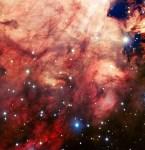 De VLT brengt de rookachtige, roze kern van de Omeganevel in beeld