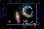 Kijk dat is nog eens handig, de Hubble Kerst- en Nieuwjaarskaarten