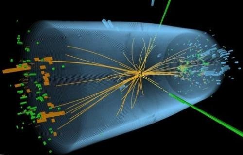 Higgs boson collission
