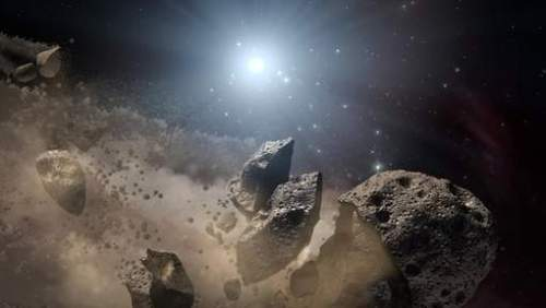 exploded asteroid
