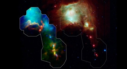 protostars in Orion Molecular Cloud
