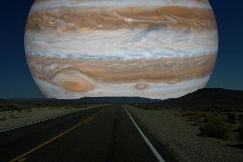 Jupiter als maan