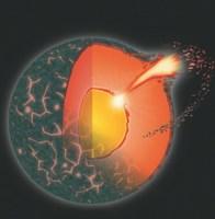"""De natuurlijke kernreactor in de D""""-laag rondom de aardkern wordt superkritisch en exoplodeert"""