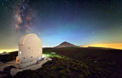 Het optical ground station van ESA op tenerife
