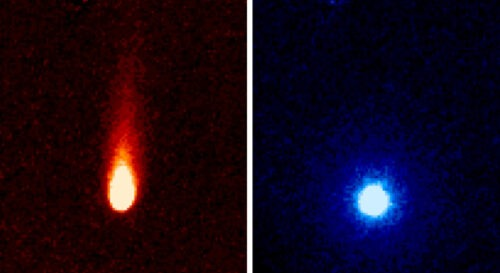 comet ISON seen by spitzer