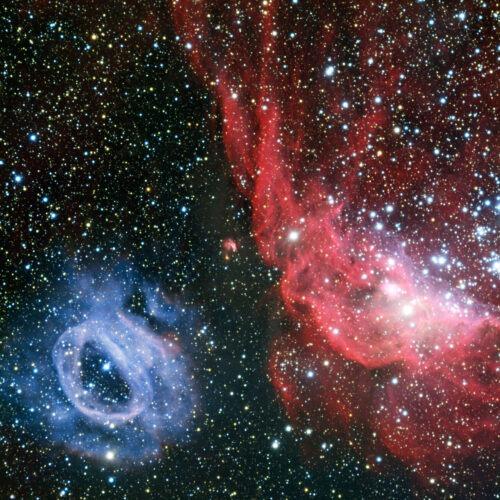 NGC 2014 NGC 2020 groot