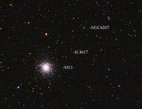 M13 en NGC 6207