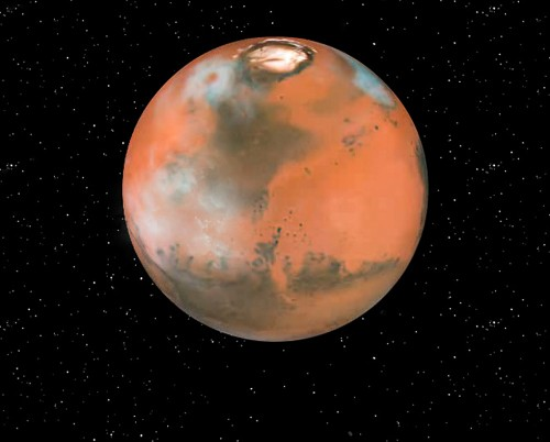 wolken op Mars Martian clouds