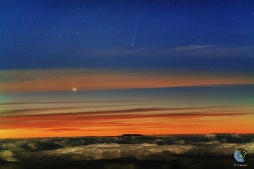 Komeet ISON door Juan Carlos Casado op 21 november 2013 @ Teide Observatory, Tenerife