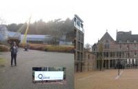"""De nieuwe oude """"sterrenwacht  Hoeven"""" in Hoeven & de oude nieuwe """"sterrenwacht Hoeven""""  in Oudenbosch."""