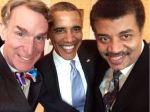 Leuk: een selfie met president Obama, Bill Nye en Neil Degrasse Tyson