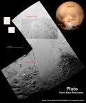 Een overzicht van Norgay Montes en Sputnik Planum in het hart van Pluto