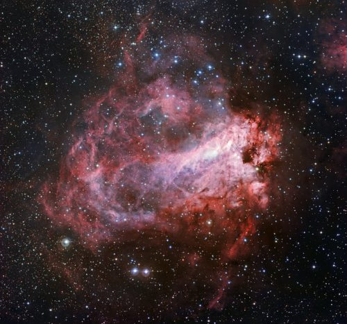 Het stervormingsgebied Messier 17