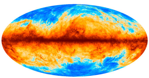 De The cosmic infrared background at 857 GHz as seen by the European Space Agency's Planck mission. (Courtesy: ESA/Planck)