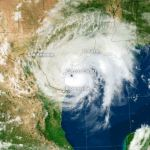 GOES-13 satelliet brengt landing orkaan Harvey in Texas in beeld