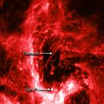 Kosmisch filament bij superzware zwart gat in centrum Melkweg nader onderzocht