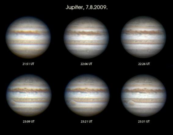 Jupiter, 7.8.2009.