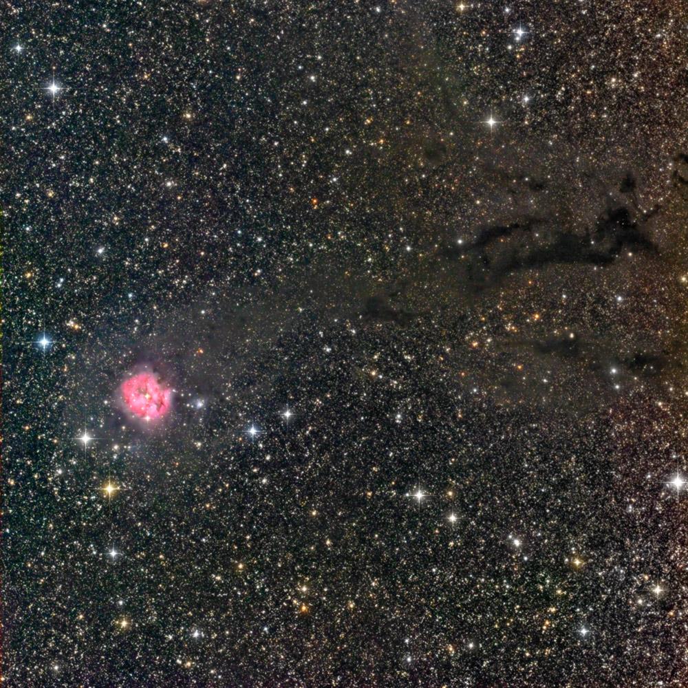 Cocoon Nebula, 6x10 min L + 6x5 min RGB. Pentax 105 + STL-11000