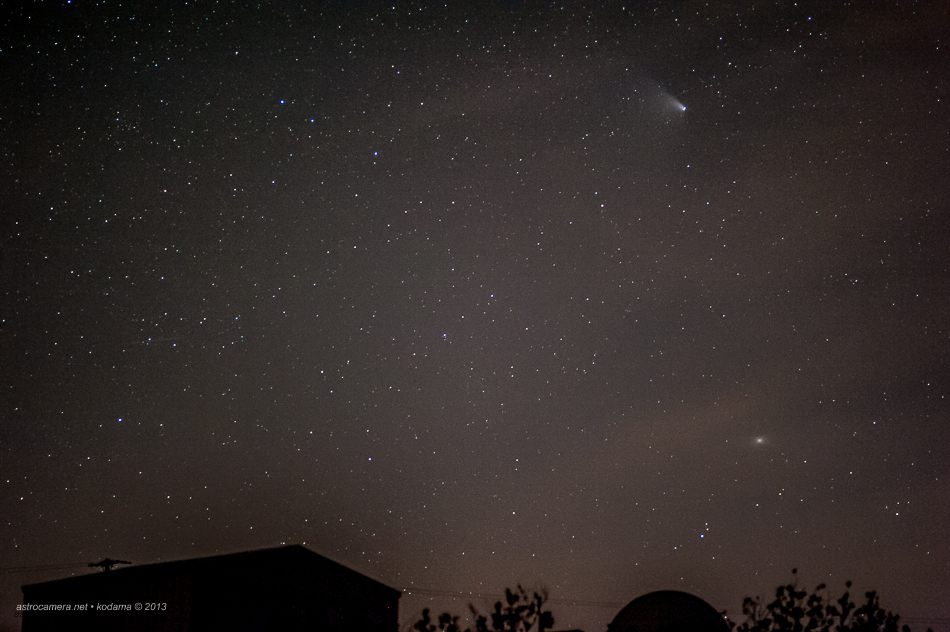 Comet Panstarrs and the Andromeda galaxy (M31)