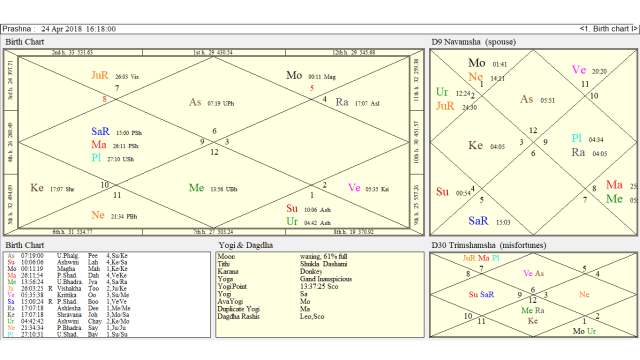 astrology marriage chart