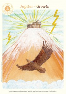 card Jupiter from the Holistic Astrological Cards by Karni Zor