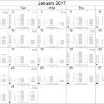 January 2017 Astrology Calendar