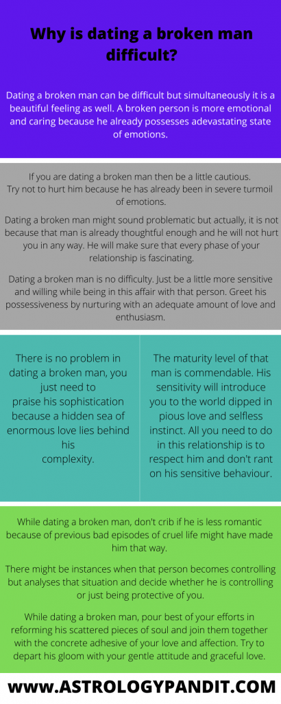 dating a broken man infographics