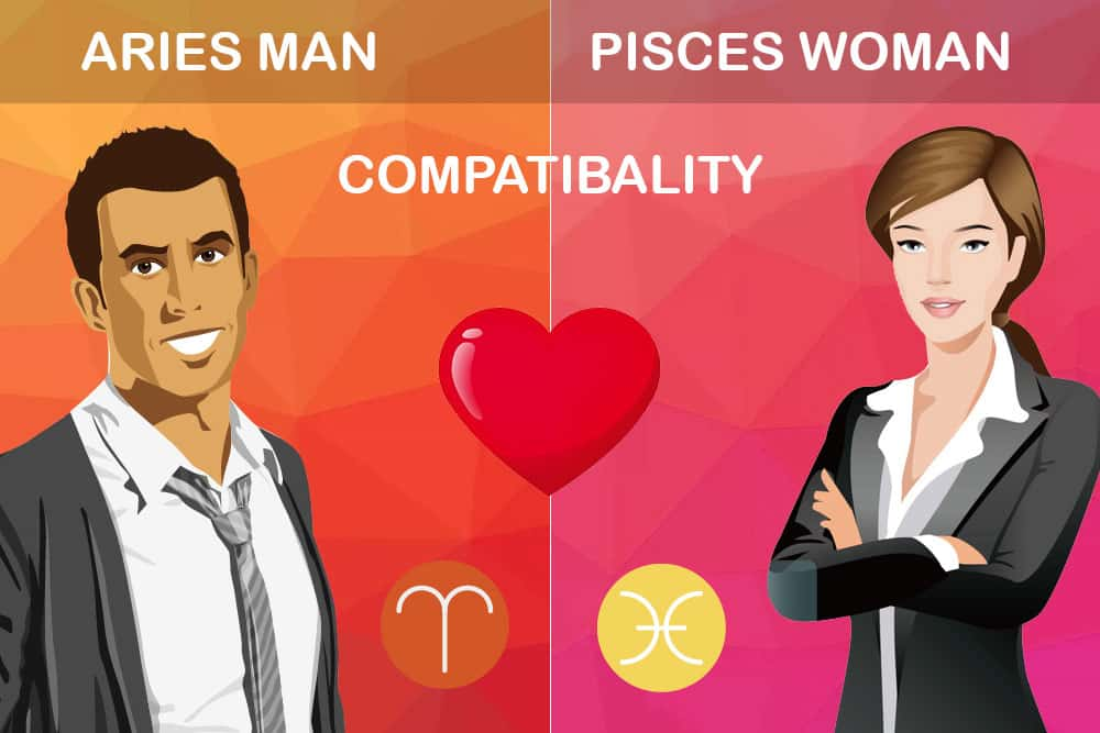 Aries man Pisces woman compatibility in love online