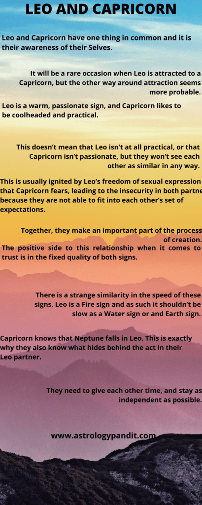 leo man capricorn woman compatibility