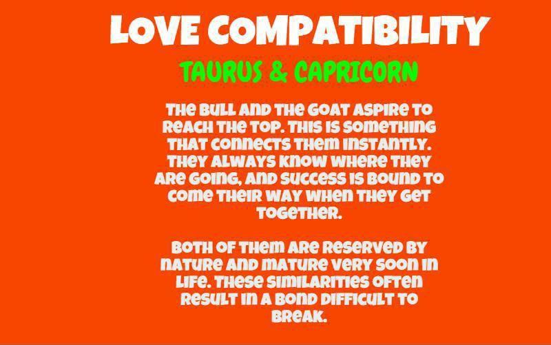 Capricorn man Taurus woman compatibility in love