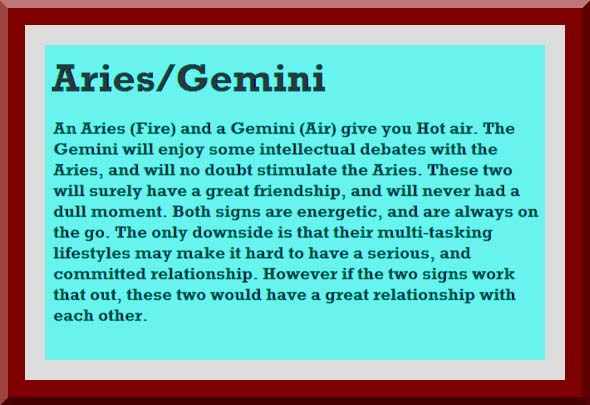 gemini man aries woman compability