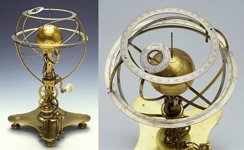 Instrumento que demuestra los movimientos de la Tierra