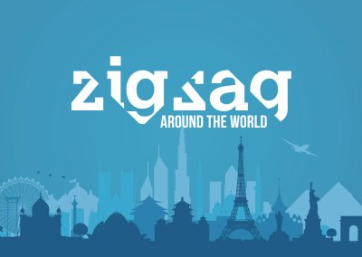 Zigzag Around the World