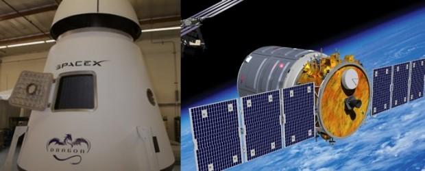 Cygnus e Dragon, capsule rispettivamente progettate da Orbital Sciences e da SpaceX si apprestano a sostituire i rifornimenti che furono del sistema Space Shuttle ormai concluso.
